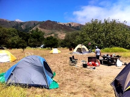A shot of our campsite at Andrew Molera
