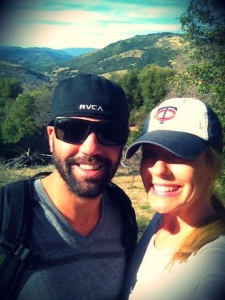 My beautiful fiancée and I hiking Volcan mtn in East County San Diego