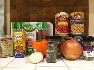 All you'll need for a delicious and healthy chili