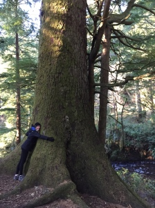 We're both pretty big tree huggers!