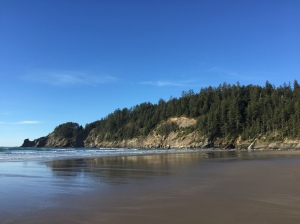 Looking south on Short Sand beach.